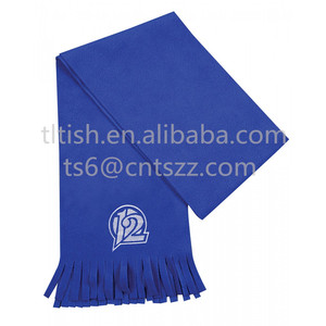 fashion top sale high quality polar fleece scarf blue
