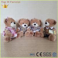 Custom tshirt handmade stuffed plush toy wholesale teddy bear for sale