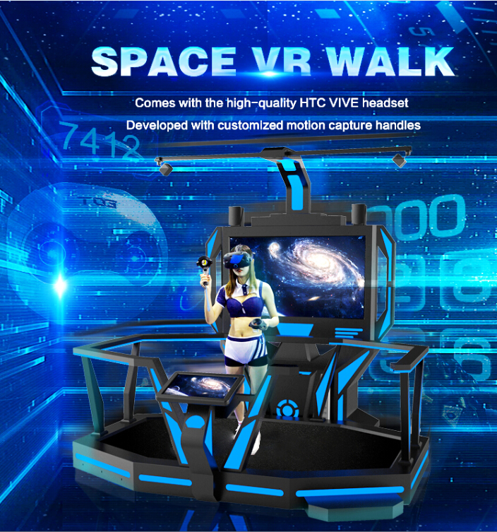 FuninVR's VR Space Walk 9D Virtual Reality VR Games Simulator for Mall