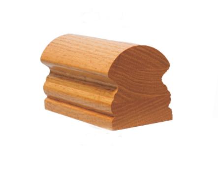 Barandilla escalera dise o moldeado de madera pasamanos de for Barandilla madera exterior