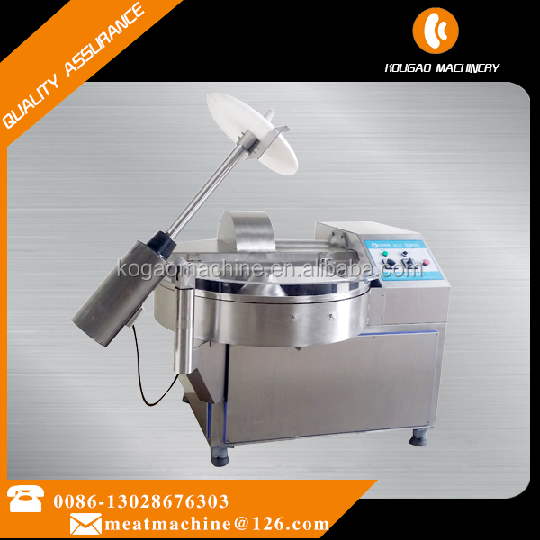SS 304 Small volume meat cutter 80L 3 blades for meat shop and meat factory 008613028676303