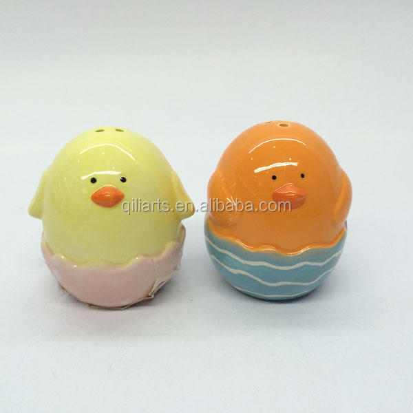 chicken design ceramic salt and pepper shaker easter gift