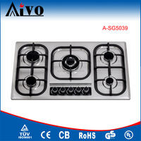 manual ignition 5 burners built in gas stove oven, indoor portable gas burners, built in gas hob