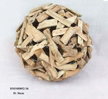 10 inch Natural driftwood ball decorations ,large wooden ball decoration for home