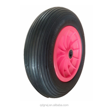 3.50-4 10 inch plastic center pu foam wheel for carrier