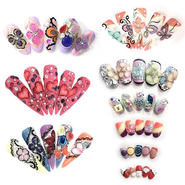 3d Nail Art Designs 40267w Dikke Make Up Juweeltje Kristal Nagels