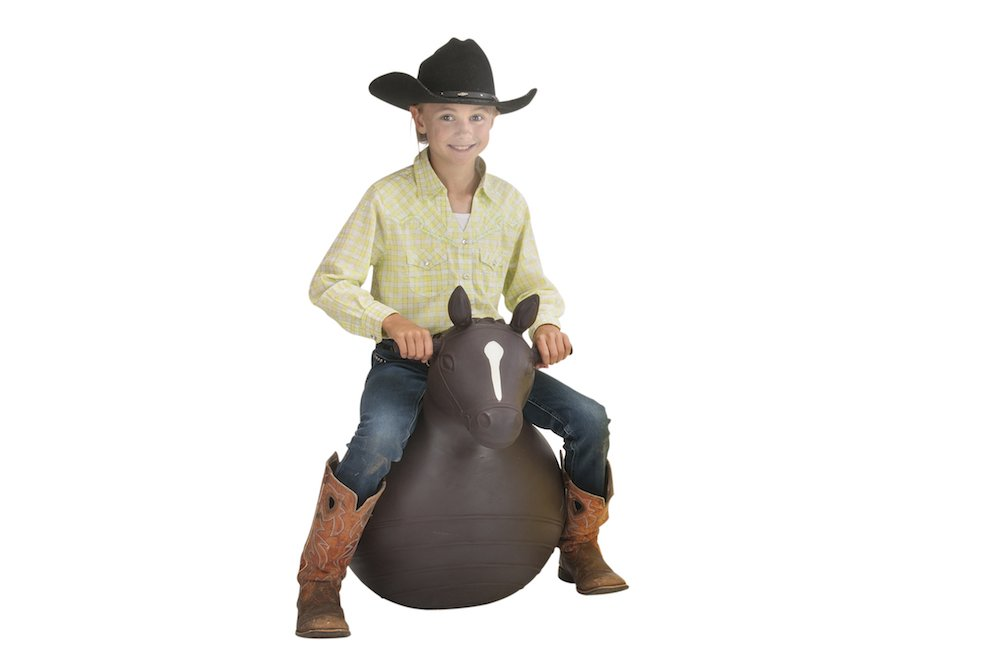 Big Country Bouncy Horse Ball by Big Country Toys - Inflatable Hopper Horse Toy