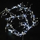 LED Lighted Crystal and Pearl Bead Garland 5 Feet 20 CT Cool White Wedding Decoration