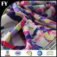 High quality of the digital printed chiffon fabric in silk