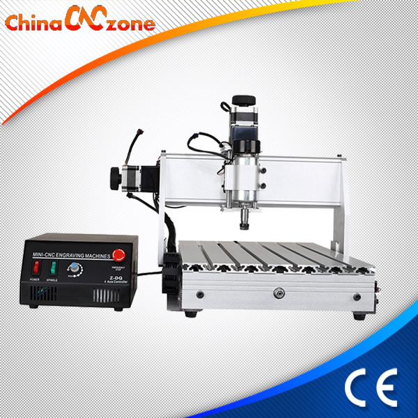 Woodworking CNC Machine Tool 3040Z DQ 3 Axis 230W Spindle With Ballscrew