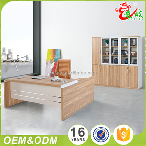 Hot selling factory price manager office L shape single desk MDF office furniture for boss