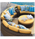 2018 outdoor rattan garden furniture sectional sets lounge sofa curved