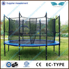 outdoor kids' professional gymnastic trampoline with inside safety net