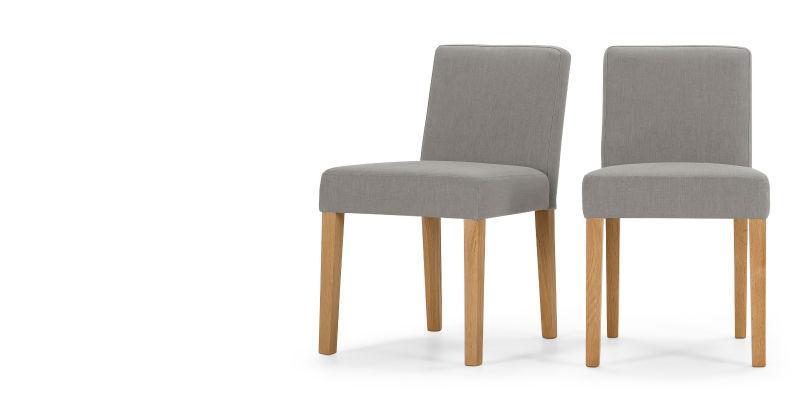 Wilton 2x sillas de comedor, de color gris grafito-Sofás para la ...