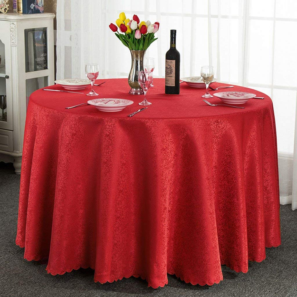 @home tablecloth Round Tablecloth, Hotel Round Table Floral Restaurant Coffee Table Tablecloth Round Tablecloth ( Color : B , Size : Round-260cm )