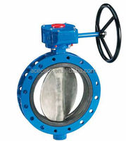 Reasonable Price Sanitary stainless steel manual flanged butterfly valve manufacturers
