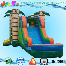 Inflatable Tiki Island Bounce Water Slide