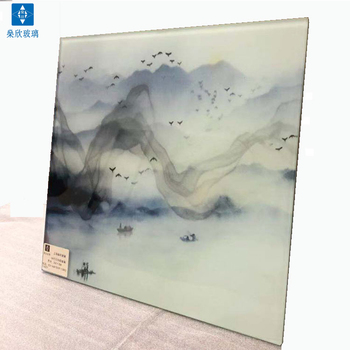 Great quality no scratch no bubble wired glass digital glass printing