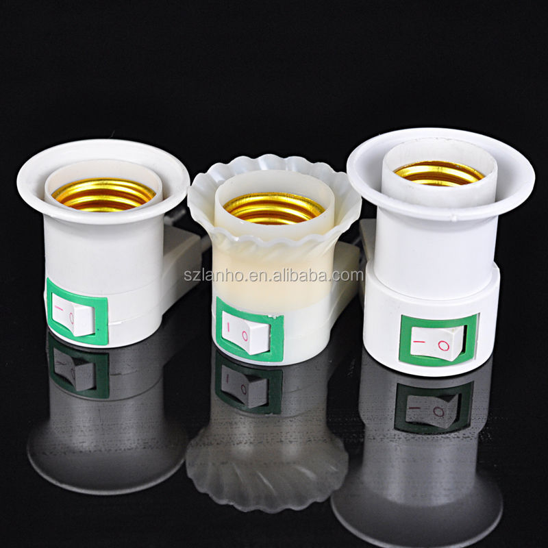 E27 To Eu Us/au Uk Plug Led Light Bulb Lamp Socket Base Holder ...