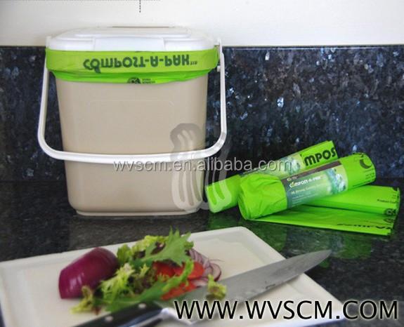Drawstring Trash Bag Food Waste Bags Garbage With Logo