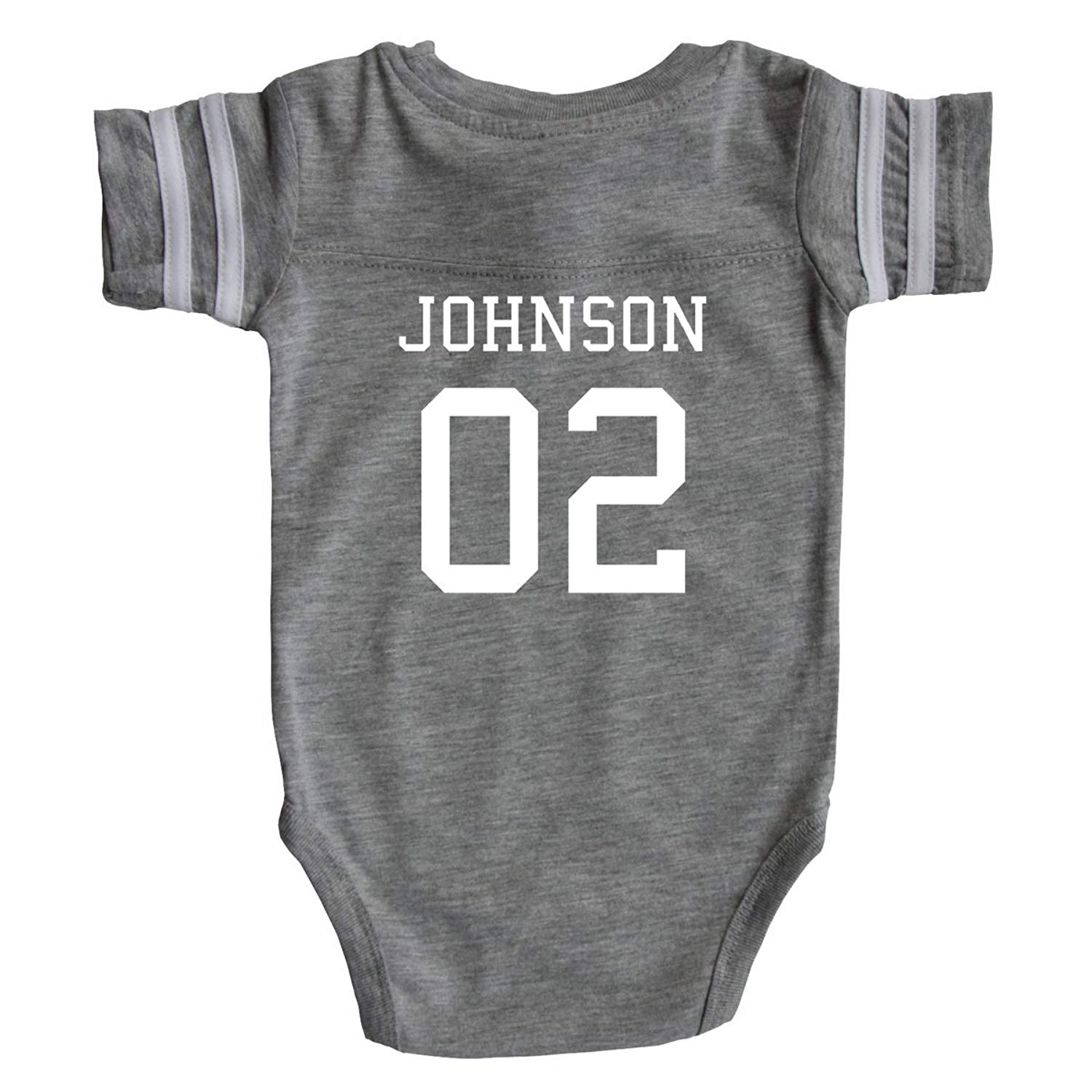 Get Quotations · Custom Football Sport Jersey Baby Bodysuit Personalized  with Name and Number - Back Only 078d00da2
