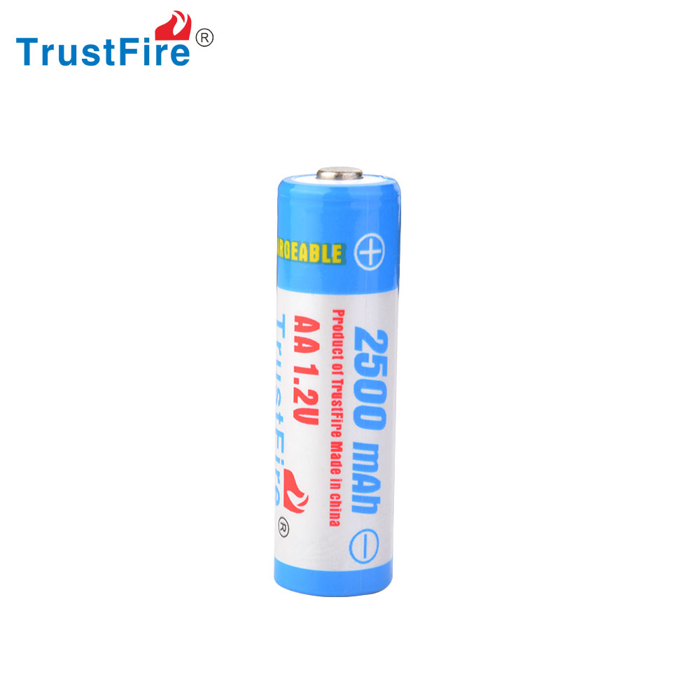 TrustFire AA 1.2v 2500 NI-MH battery holder aa battery rechargeable