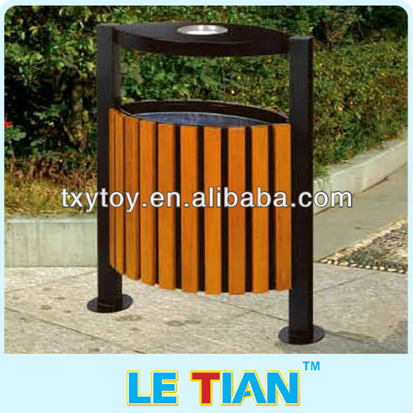 wooden trash can for public LT-0107F