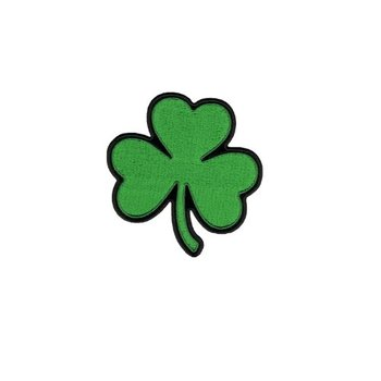 Small Four Leaf Clover Lucky Irish Shamrock Embroidered Iron