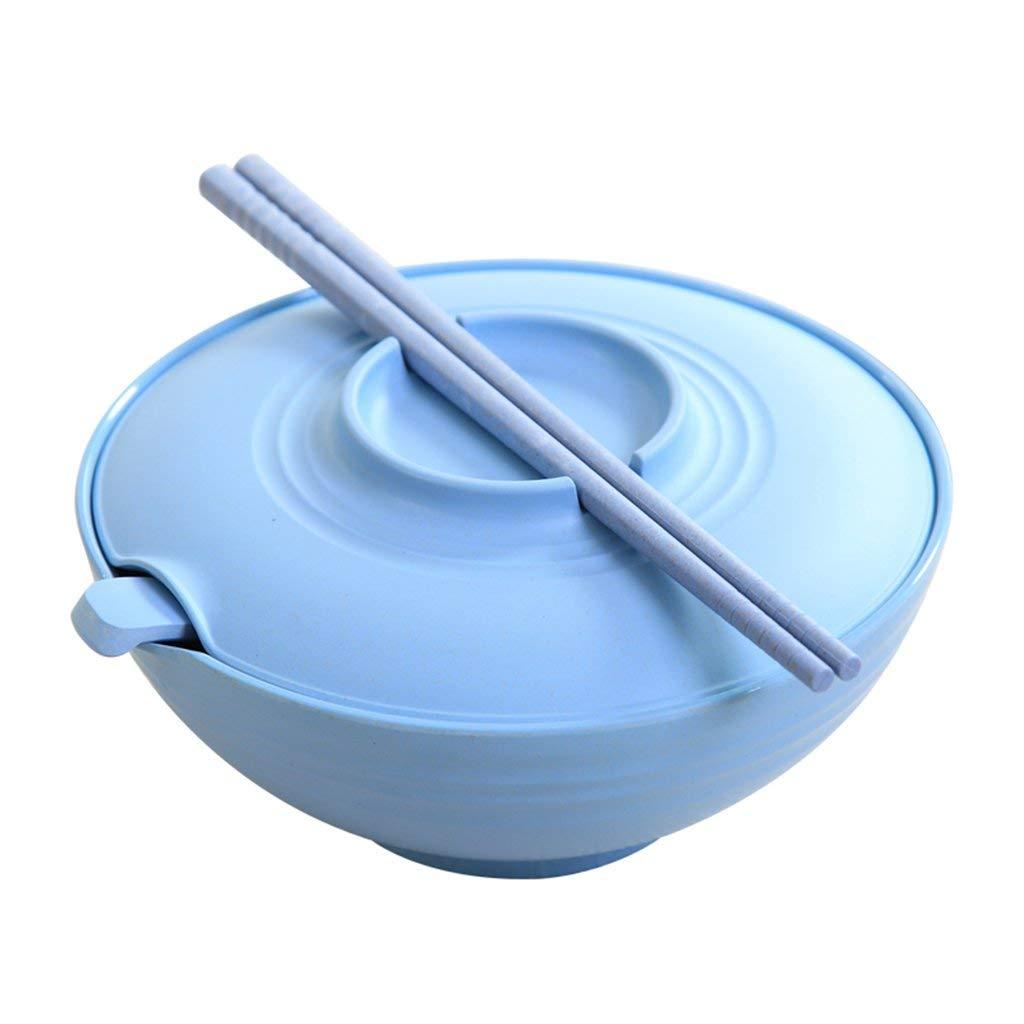 Bowls Pasta Bowls Student dormitory instant noodles bowl with instant noodles (Color : Blue, Size : Diameter 189cm)