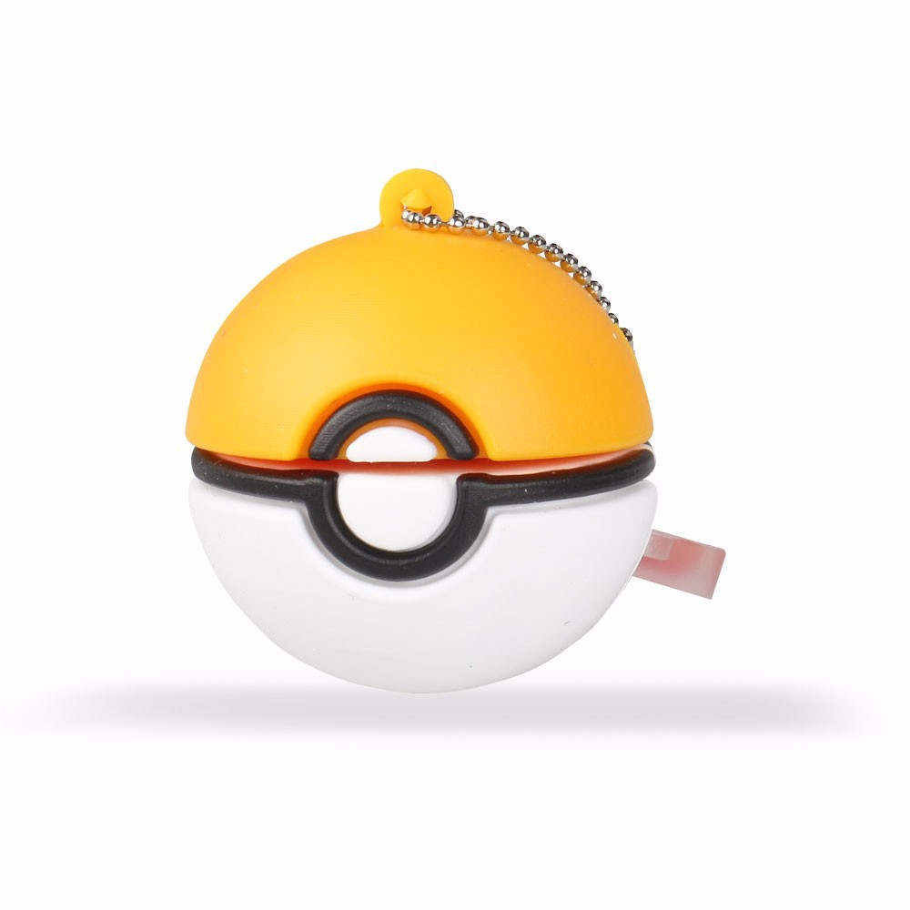 Wholesale popular mini give away yellow pokeball PVC USB flash drive stick from factory