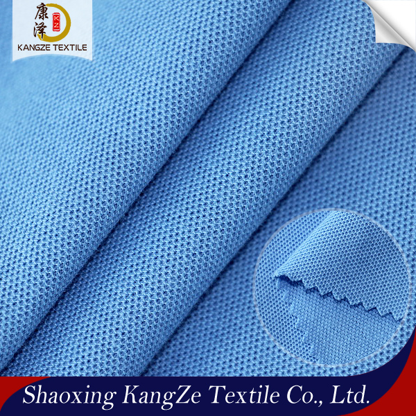 Quick Dry <strong>Polyester</strong> and Cotton Knit CVC Single Jersey Pique Fabric for Man Polo Shirt
