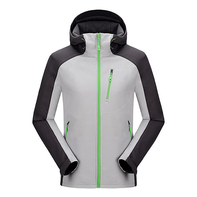 Custom Men Sports Softshell Jackets  Outdoor Camping Coats Thermal Waterproof Softshell Jacket With Hood