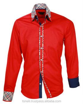cfe34199431ca Alta calidad 100% algodón doble Collar para hombre-camisas-gratis Envío  Expreso de