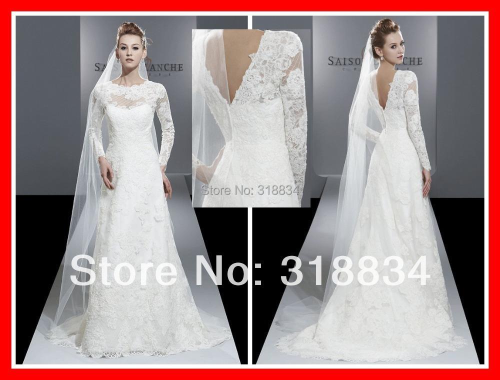 2015 Romantic White Lace Wedding Dresses F 4205 A Line
