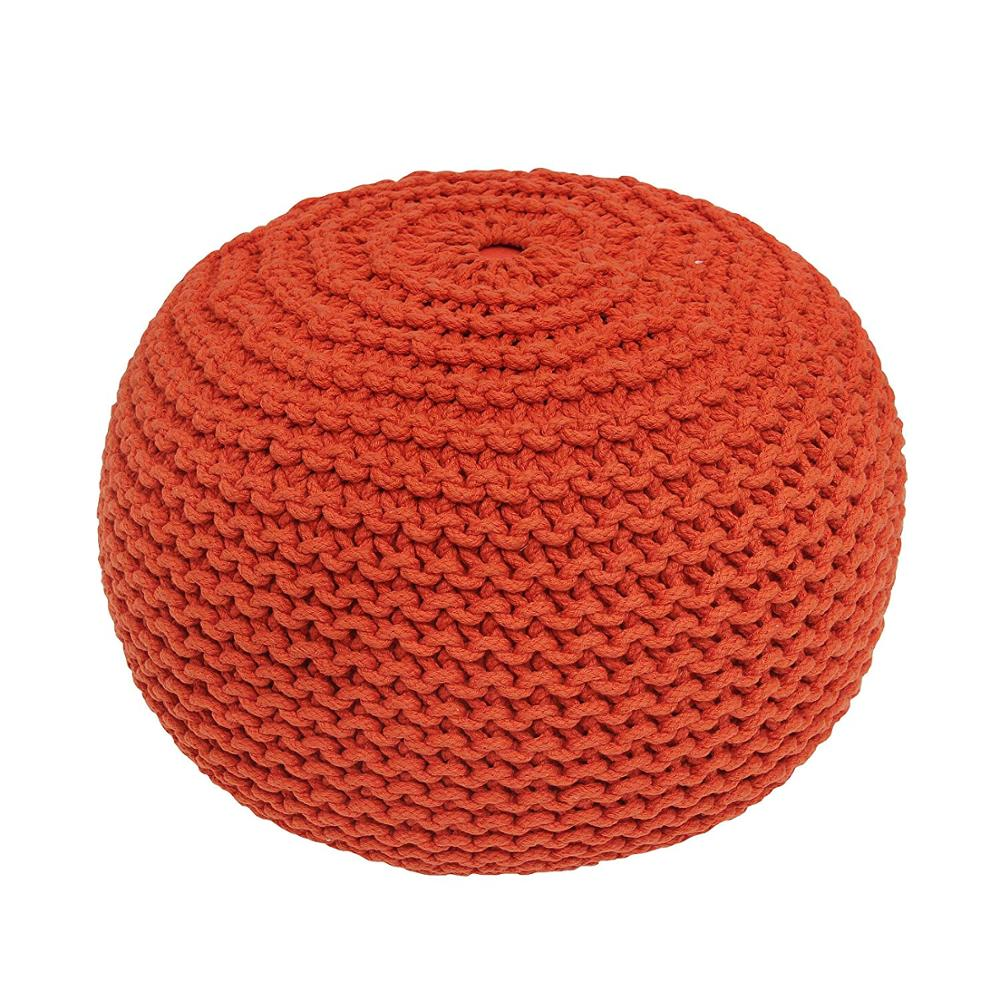 Relax Pouf Beanbag Fill Round Stool ,Outdoor Knitted Pouf