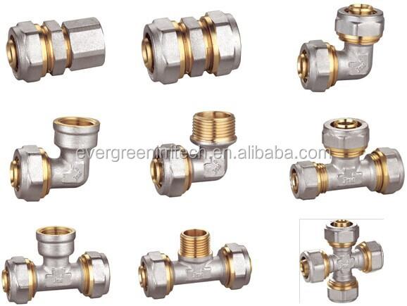 1 a 3//4 PEXworx Pex-Al-Pex compresi/ón x FPT tubo de lat/ón de montaje