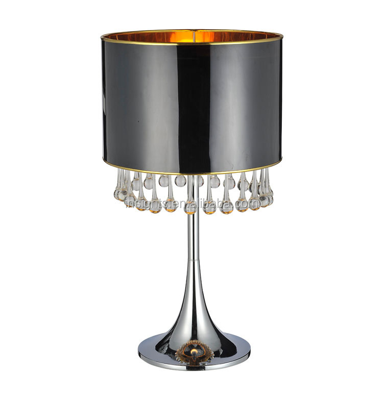 Contemporary Black Crystal Chandelier Standing Floor Lamp With Pvc ...