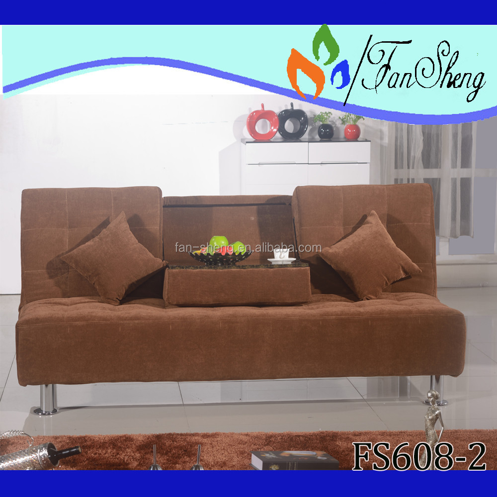 PULL DOWN SEAT FABRIC SPECIAL USE HOME BED CUM SOFA CUM BED FOR BEDROOM FURNITURE FS608-2