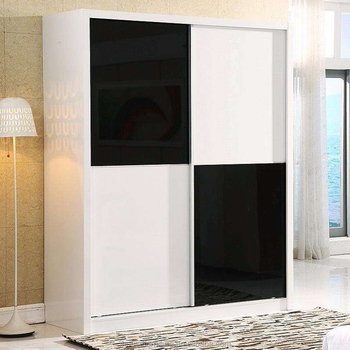 Nice Modern Black White MDF Bedroom Almirah Wardrobe Cupboard Cabinet Designs/Black  Wardrobe/Cupboard Cabinet