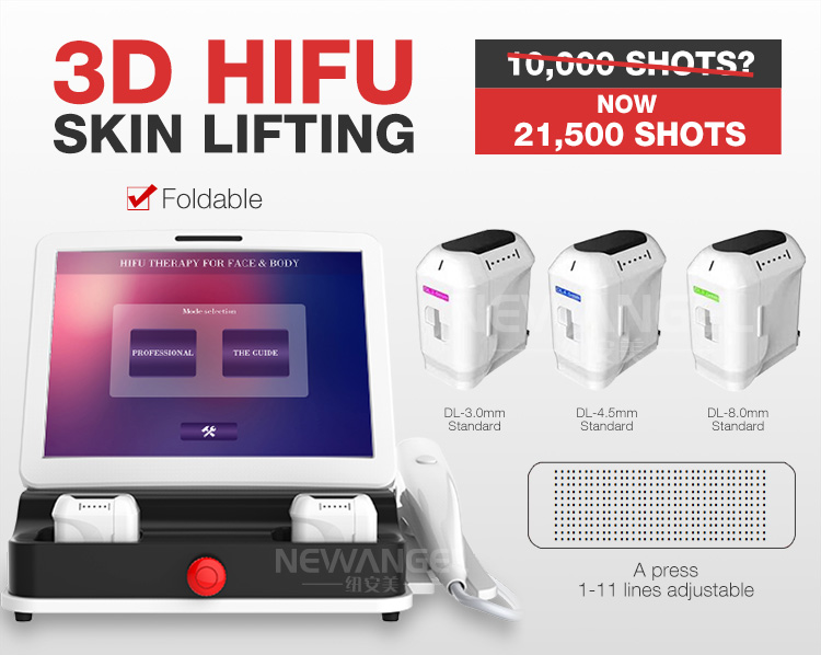OEM appearance 3D portable hifu anti-aging face and body machine