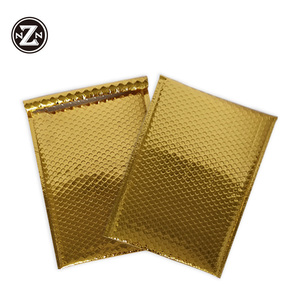 waterproof cheap gold metallic gold foil bubble shipping courier mailers bag for alibaba