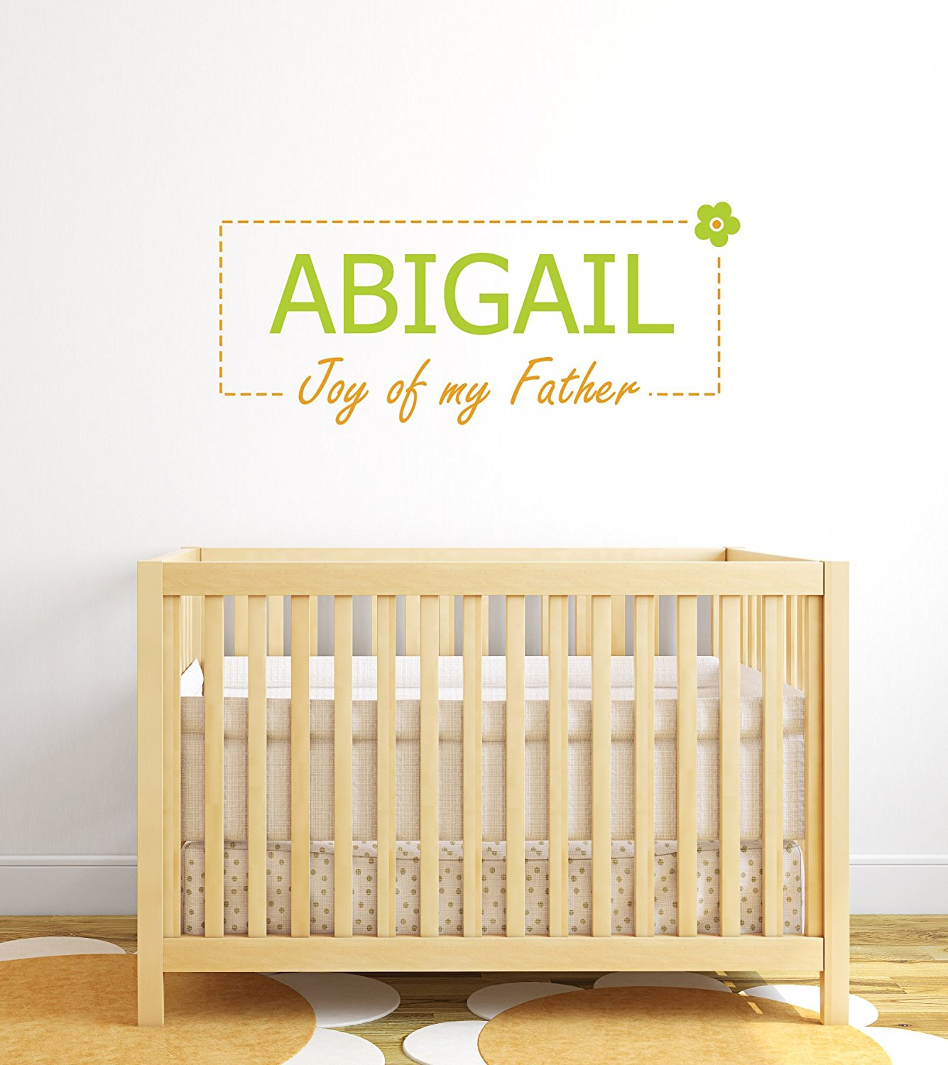 Aail Personalized Baby Name Meaning Wall Decals For