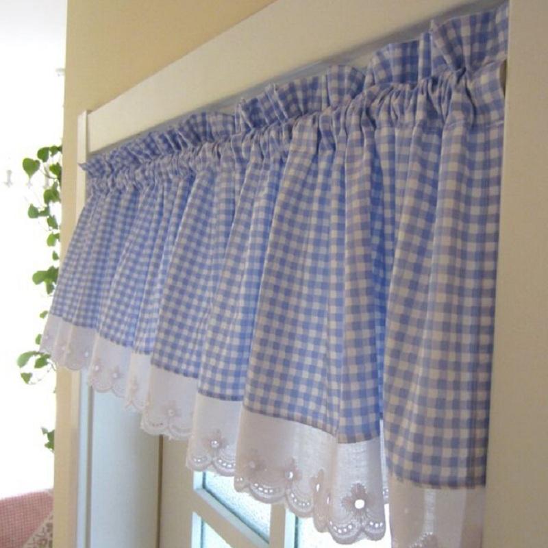 Plaid Kitchen Curtains For Sale