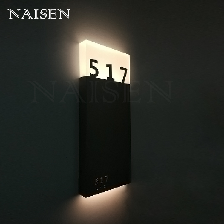 2018 New Modern Acrylic LED House Number Sign Lamp Lights