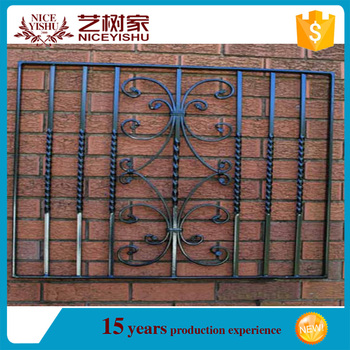 2016 India Style Modern Flat Top Wrought Iron Window Grill Design