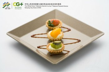 Eco friendly Rice Husk fiber Dinner plates disposable bamboo wooden plate : disposable hors d oeuvres plates - pezcame.com