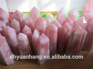 Big rose quartz crystal point,quartz crystal points wholesale,natural rough crystal quartz
