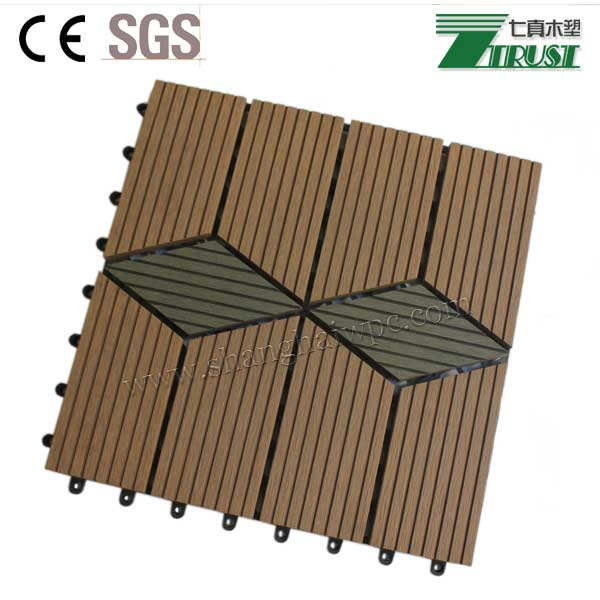 Waterproof non slip co extruted wpc diy decking for for Non slip composite decking