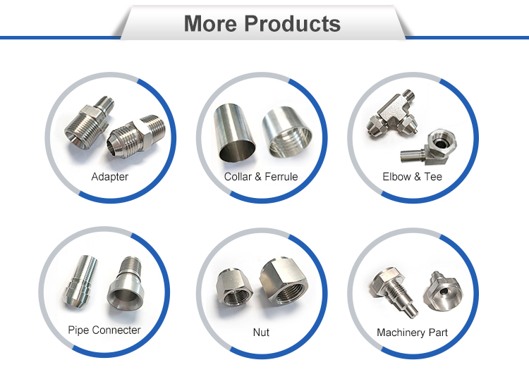 China supplier high Quality Popular sale food grade  Stainless Steel Hydraulic Fittings