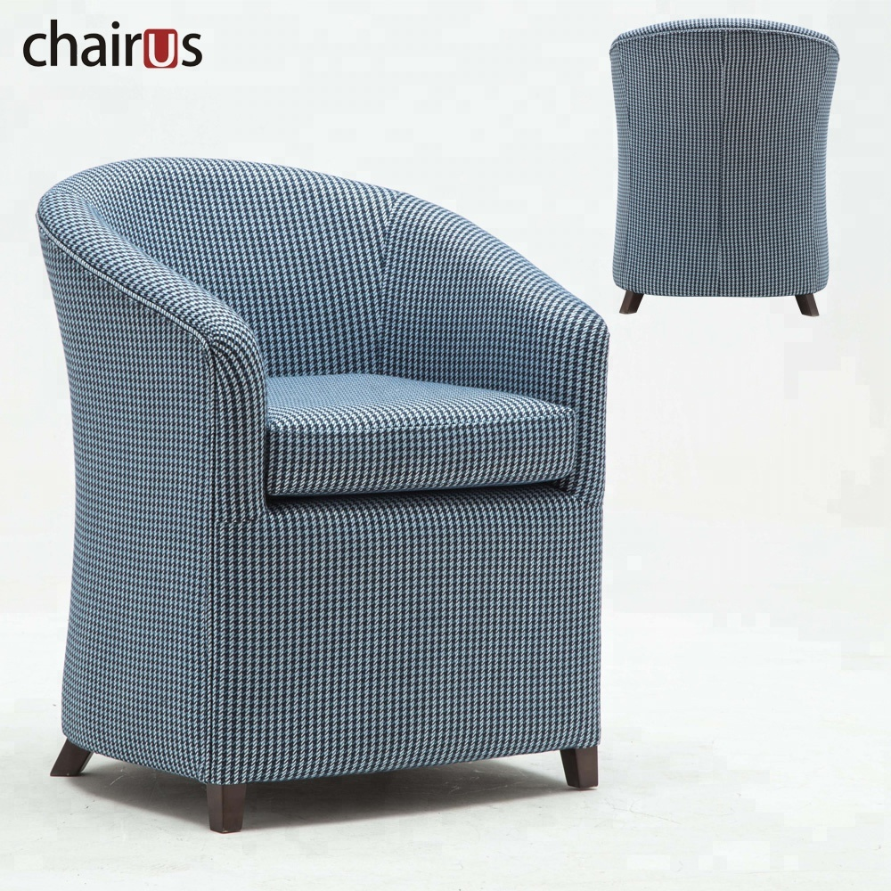 Home Furniture Wooden Lounge Armchair Living Room Corner Sofa Accent Floor Club Cafe Leisure Tub Chair